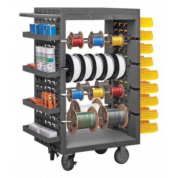 """DURHAM MFG 14 ga. Steel Wire Spool Cart 1200 lb. Capacity, 32-5/8""""L x 18""""W x 46-1/8""""H"""